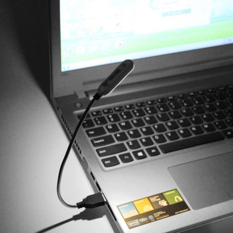 Гибкая яркая Милая Мини 4 светодиодная USB лампа для чтения книг, компьютерная лампа для ноутбука, ноутбука, компьютера, ПК для студентов