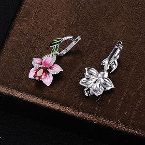 Image 5 - SANTUZZA Zilveren Oorbellen Voor Vrouwen 925 Sterling Zilveren Dangle Oorbellen Lange Zilveren 925 Zirconia brincos Sieraden Enamel