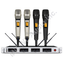 MiCWL 2 Champagne Gold Black Limited Edition Wireless Handheld Microphone System  4 Beige Headset SKM9000 4x100 Channel