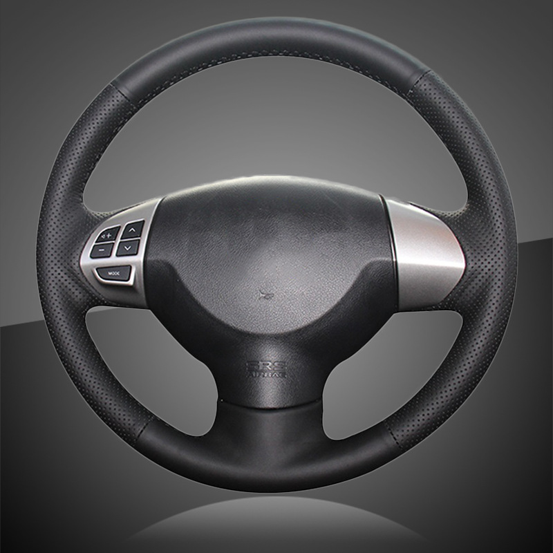 Hand Stitched Car Braid On The Steering Wheel Cover For Mitsubishi Lancer X 10 2007-2015 Outlander 2006-2013 ASX 2010-2013 Colt