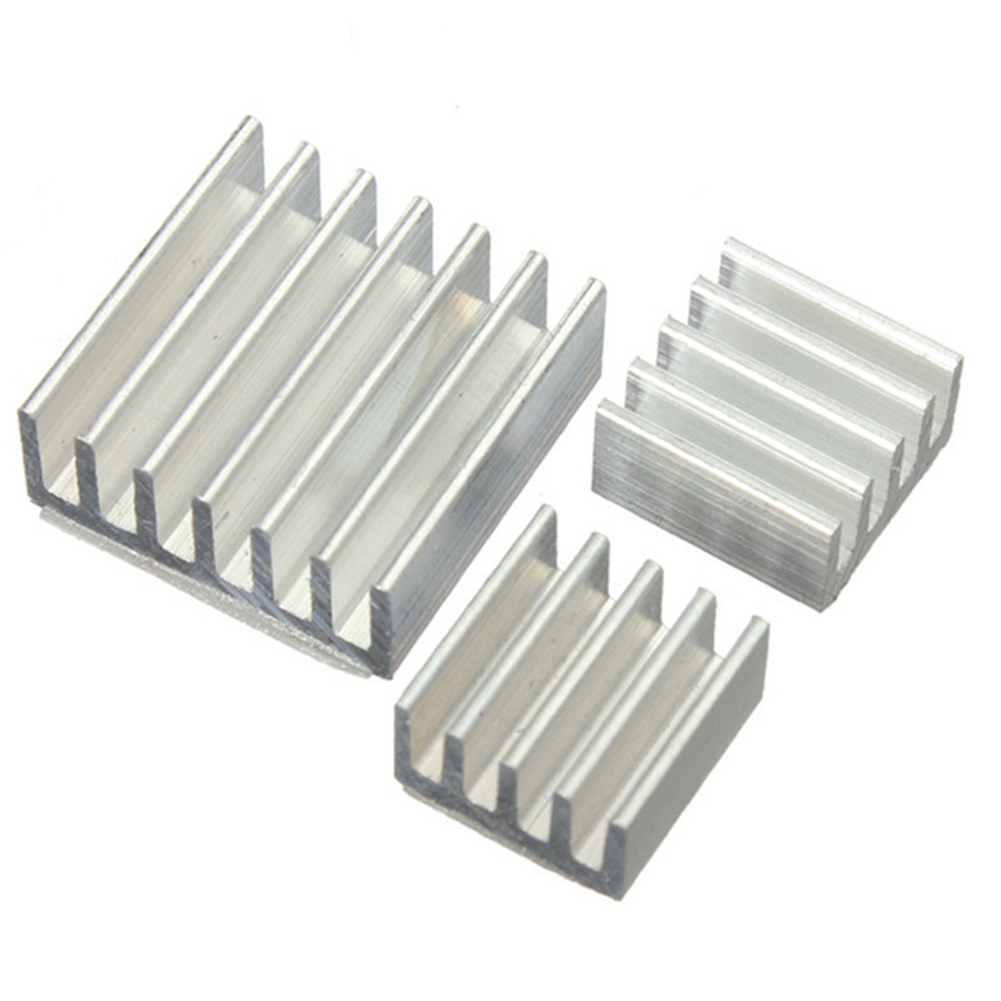 3PCS/set One Set Aluminum Heatsink Cooler Adhesive Kit  Microcomputer Parts For Cooling Raspberry Pi Set Accessories