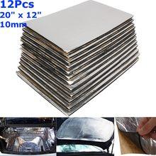 9 pièces/12 pièces 10/8/6/3mm voiture insonorisation tapis Deadener isolation thermique bruit amortissement tapis capot mousse à cellules fermées 50x30cm