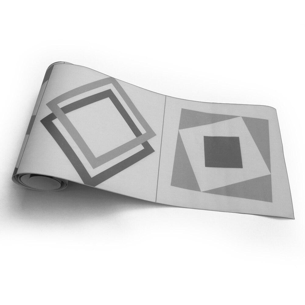 Us 9 15 50 Off Wallpaper Border Sticker Self Adhesive Pvc Waterproof Black And White Waist Line Wall Sticker Geometric Sticker Bathroom Sticker In