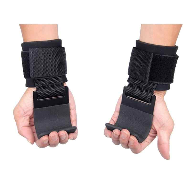 2 sztuk podnoszenie ciężarów hak ręczny opaski na nadgarstek rękawice podnoszenie ciężarów trening siłowy siłownia hak rękawice do podnoszenia ciężarów