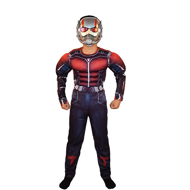 Kids Halloween Costumes Ant-man Muscle Jumpsuits Clothes Boys Muscle Fantasy Superhero The Avengers Carnival Cosplay Costumes