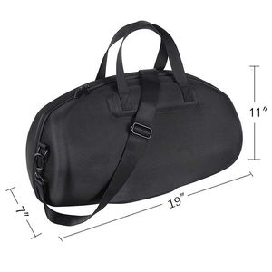 Image 4 - HOT For JBL Boombox المحمولة بلوتوث مكبر صوت ضد الماء غطاء واقٍ مزخرف لهاتف آيفون حقيبة حمل صندوق حماية (أسود)