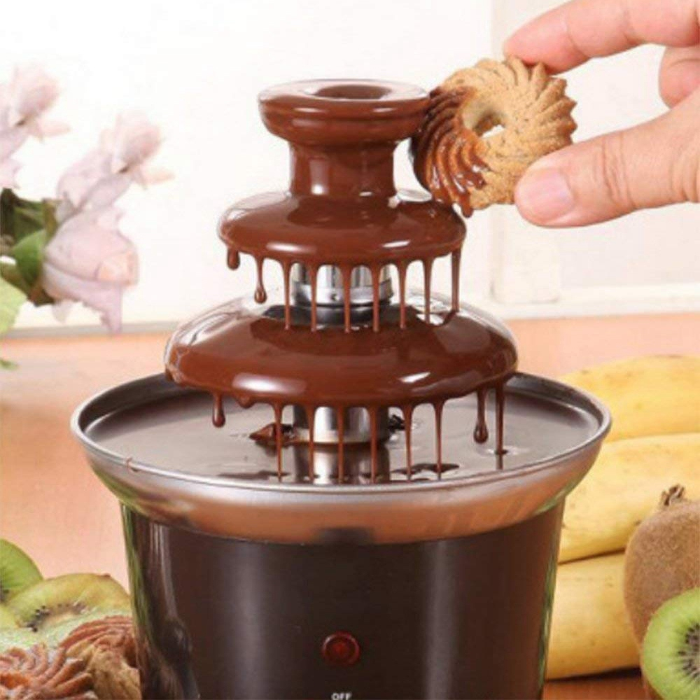 Mini Chocolate Fountain Creative Design Chocolate Melt With Heating Fondue Machine Chocolate Fondue Melting Machine EU Plug