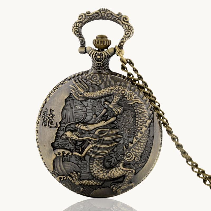 Watches Hot Sale Ibeina Skull Theme Full Hunter Quartz Engraved Fob Retro Pendant Pocket Watch Chain Gift