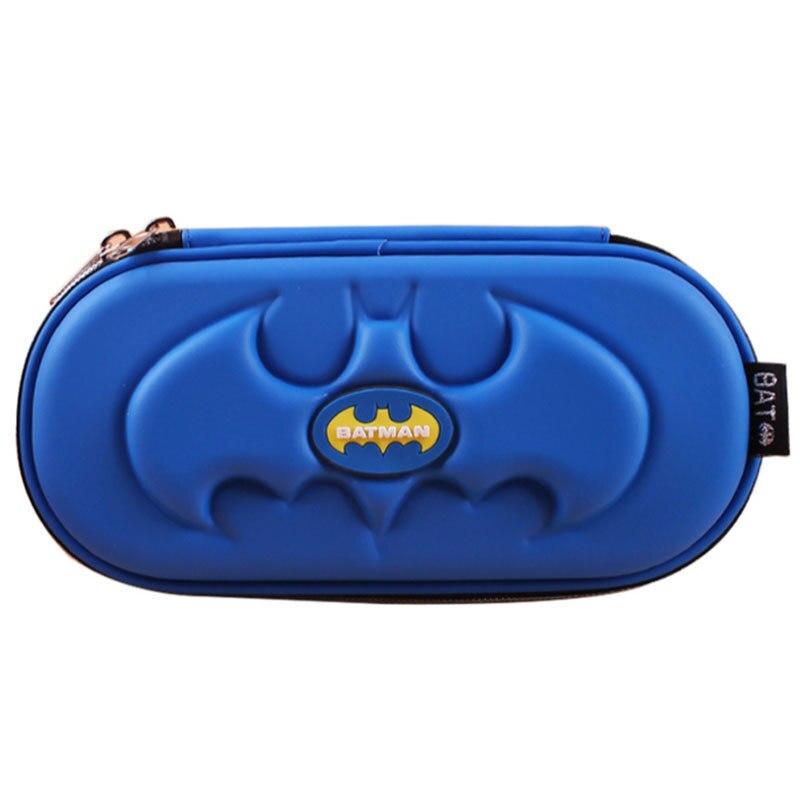 Superhero Batman Pencil Case For Boys Kid Blue Anime Multilayer Big Capacity Spiderman Pencil Bag Box School Stationery Supplies