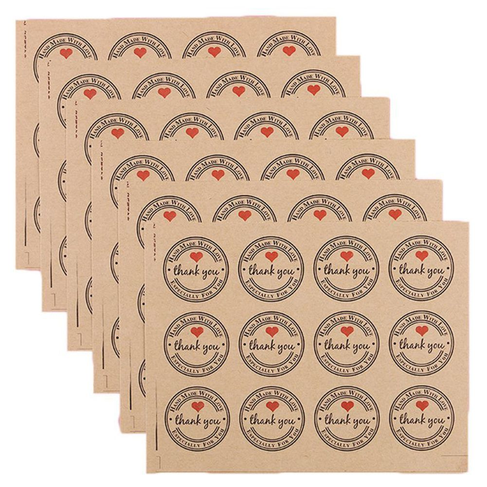 120 Pcs 3.8cm Thank You Kraft Paper Sticker Labels For Wedding Party Favor Thank You Card, Thank You Stamp Sticker, Diy Gift P New Varieties Are Introduced One After Another