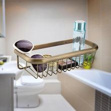 30cm Antique Bathroom Shelf Organizer Solid Copper Bath Soap Shelf Shampoo Storage Holder Rustproof Hanging Shower Basket стоимость