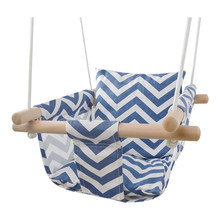 Indoor Outdoor Swing Hanging Chair Seat Secure Canvas Hanging Swing Seat Cushion Home Hammock Chair Toy for Toddler Baby(China)