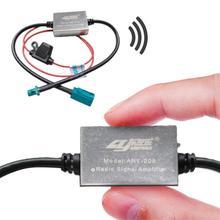 12 В fm-усилитель сигнала, анти-помехи, автомобильная металлическая антенна, универсальное радио, авто усилитель сигнала, автозапчасти для Volkswagen BMW