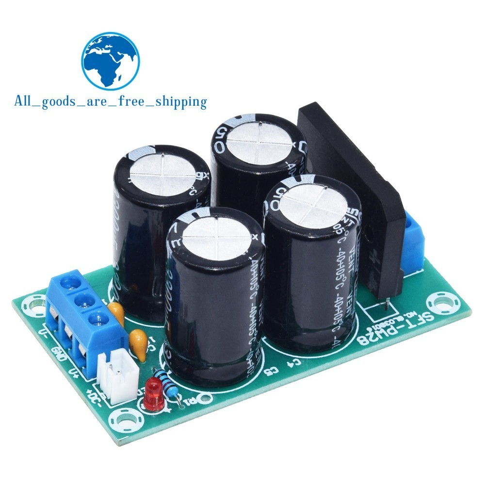 TZT PW28 Dual Power Filter Power Amplifier Board Rectifier High Current 25A Flat Bridge Unregulated Power Supply Board DIY