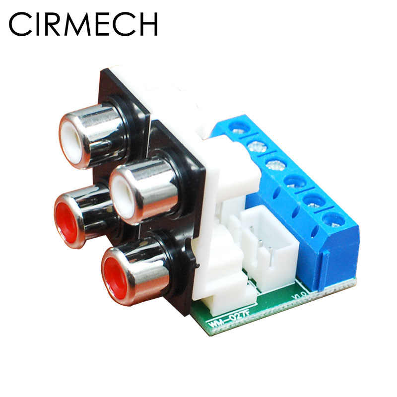 CIRMECH Vier kanaals RCA naar dubbele 3pin 2.54 connector 3pin 5.08 connector voor stereo of surround audio systeem