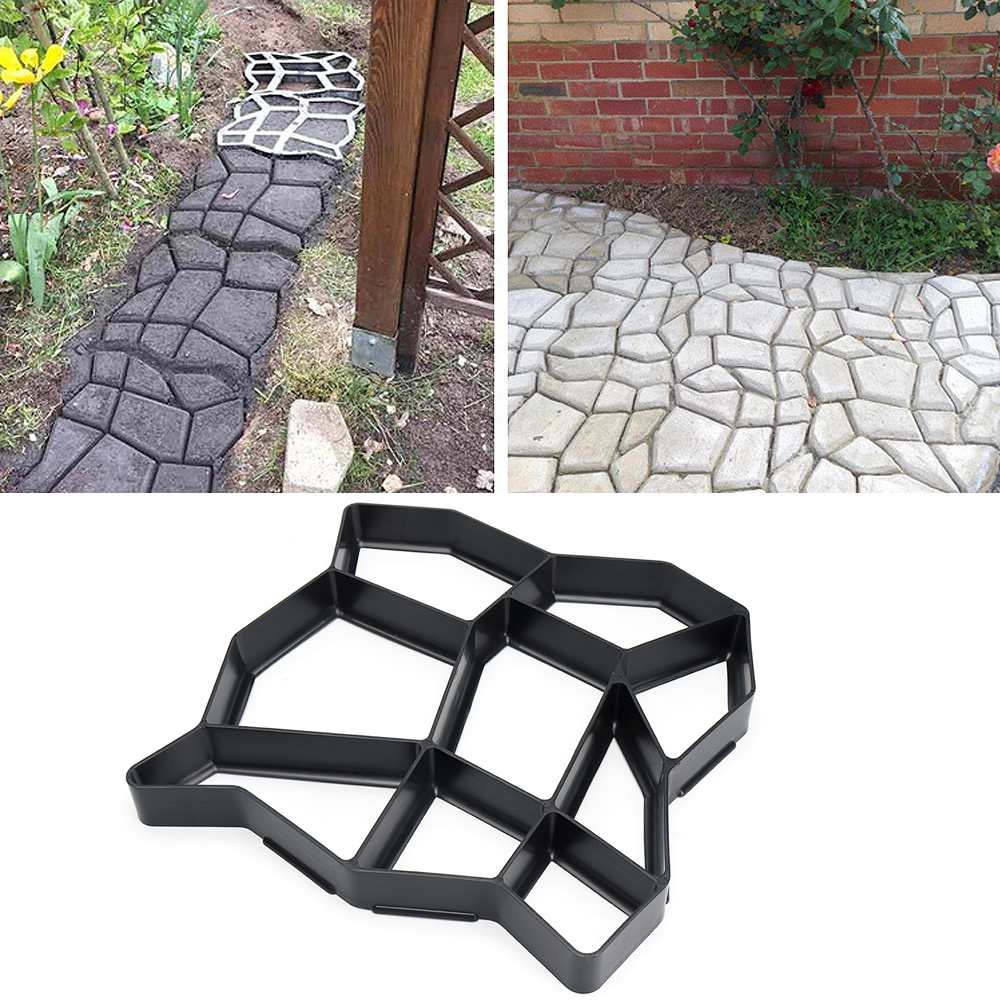 36*36 cm Tuinpad Maker Vorm Onregelmatige Model Beton Stepping Stone Cement Mal Baksteen DIY Huis Tuin Gereedschap