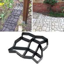 36*36cm Garden Path Maker Mold Irregular Model Concrete Stepping Stone Cement Mould Brick DIY Home Garden Tools