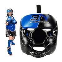 Children's Boxing Helmet Leather Kids Head Protection Training Boxing MMA Fighting Sparring Kickboxing UFC BJJ Karate