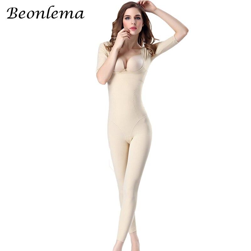 Beonlema Modellazione Del Corpo Delle Donne Shaper Pieno Gamba Lunga Shapewear Senza Soluzione di Continuità Braccio Corto Intimo Elasticizzato E Contenitivo Che Dimagrisce la Biancheria Intima Più Il Formato Della Tuta 2