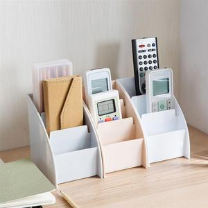 Image 5 - Three Lattices Storage Box Simple Plastic Cosmetic Box Trapezoidal Desktop Finishing Box for Bedroom Study Room Living Room