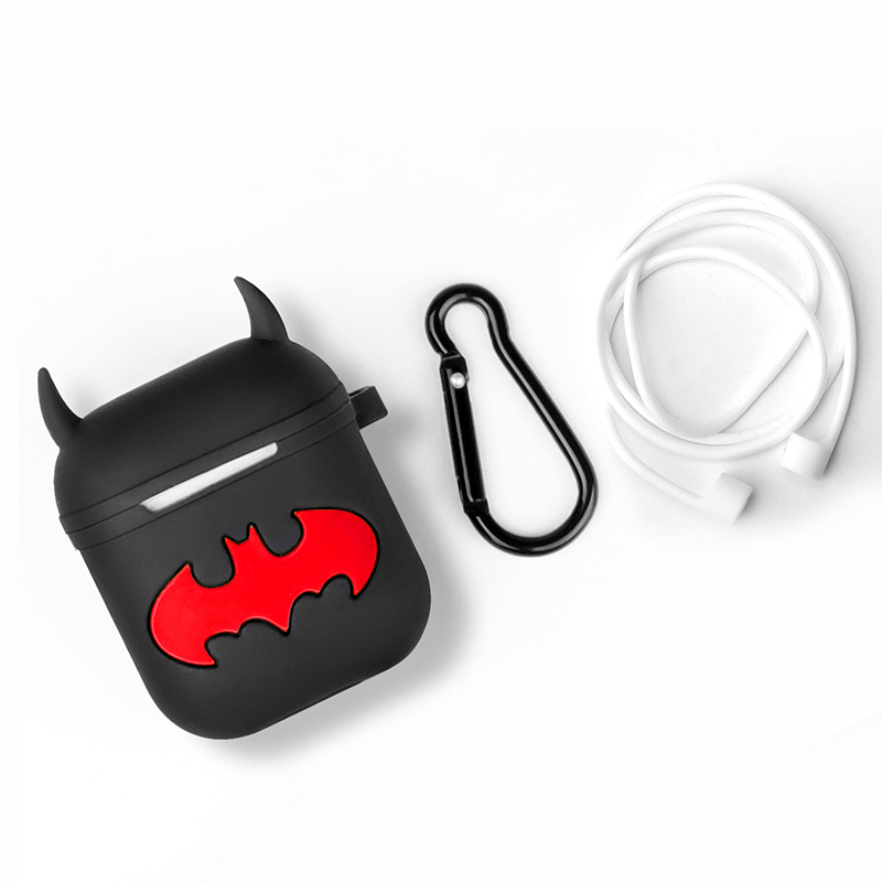 first rate 04dfc 9f131 US $2.39 20% OFF|Soft Silicone Earphone Cases for airpods case Cartoon  Batman for Airpods /i9S/i10/i10s/i10 max/i11/i12/i13 Tws charging box  case-in ...