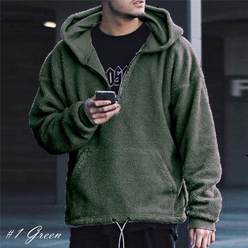 Hirigin Fashion Spring Winter Warm Faux Fur Sweatshirt Hoodie for Men High Quality Comfort Male Pullover Hoodies Drop Ship