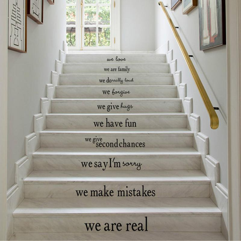 1pc In This House Removable Wall Decoration Living Room Stairs Floor Decal Staircase Bumper Home & Living Sticker