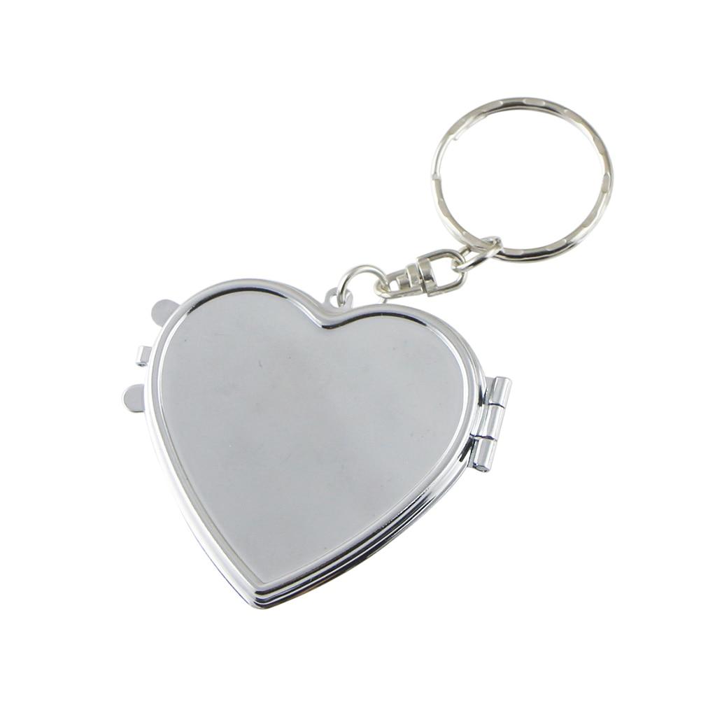 Schminkspiegel FäHig Spiegel Keychain Folding Compact Double-side Pocket Tragbare Kosmetik Spiegel Make-up Gesundheit FöRdern Und Krankheiten Heilen Haut Pflege Werkzeuge