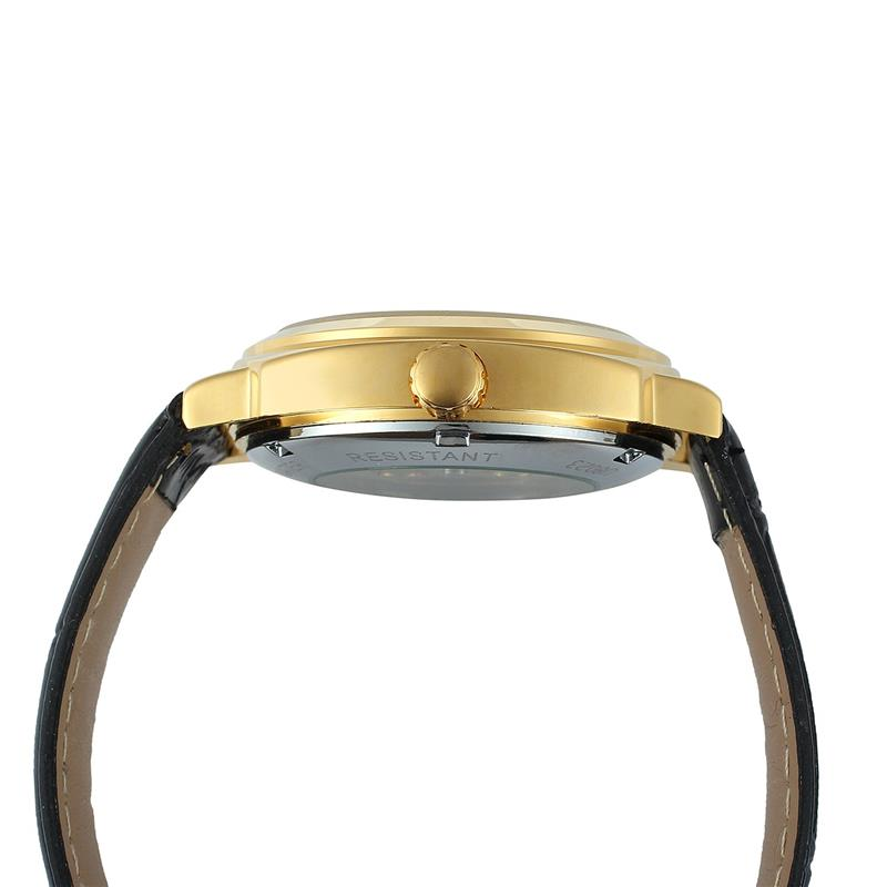 Winner Royal Diamond Design Black Gold Mechanical Watch Montre Homme Mens Watches Top Brand Luxury Relogio Male Watch 5