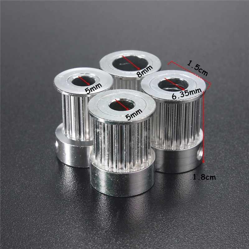 GT2 16 dentes 20 Furo Dentes 5mm/6.35mm/8 milímetros Alumium Sincronismo Polia Apto para GT2 10 milímetros Aberto Correia dentada para Impressora 3D