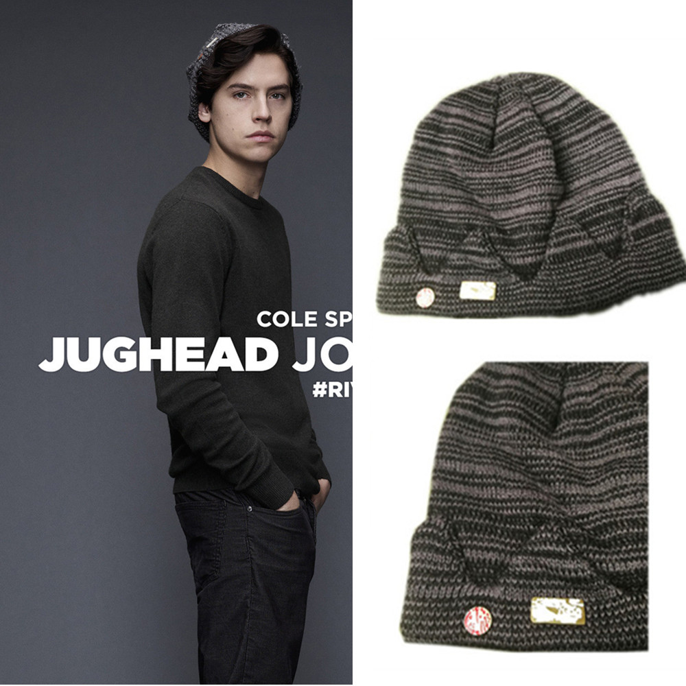 2019 Winter Riverdale Jughead Jones Hat Cosplay Beanie Cap Knitted Hat TV Series Cosplay Props Hats Cappello Crown Knitted Cap