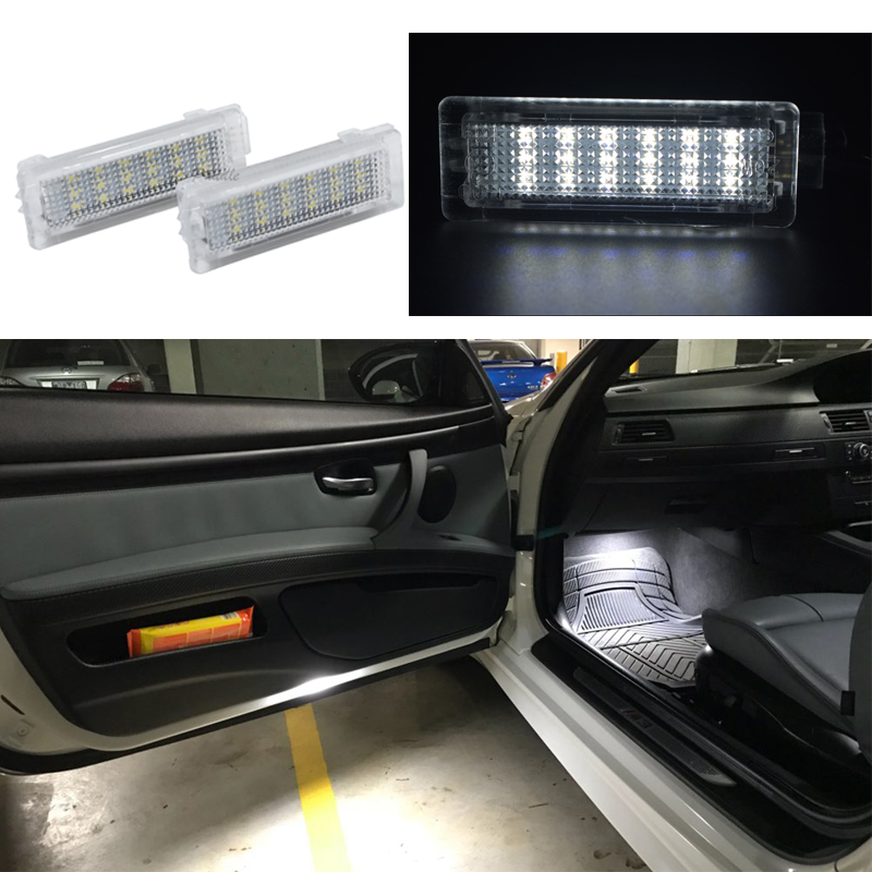 2x 18smd LED Door font b Interior b font Footwell Light Led courtesy light CAR Styling