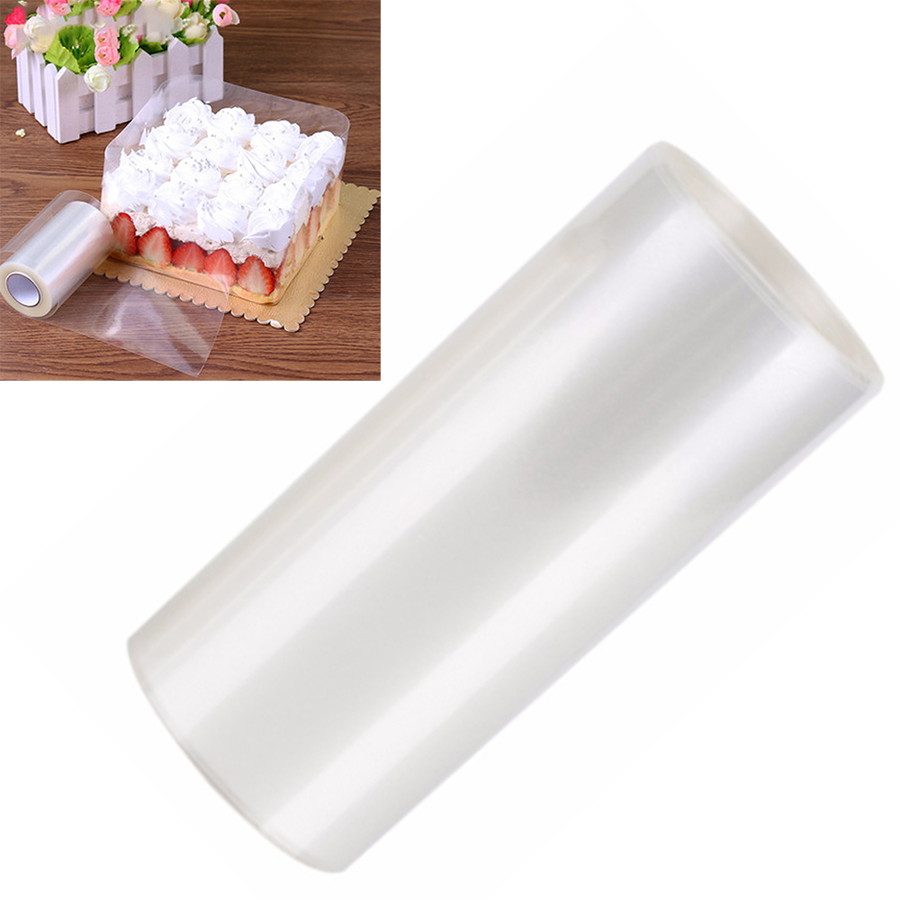 Houkiper 8/10cm Transparent Mousse Surrounding Edge Wrapping Tape Cake Dessert Collar Cake Decorating Tools Clear Acetate Roll