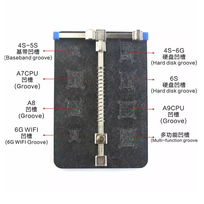 Universal Stainless Steel Circuit Board PCB Holder Fixture Work Station  Mobile Phone PDA MP3 Electric Tools Repair Tool