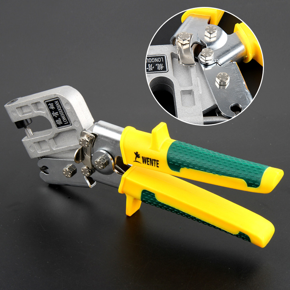 Metal Plaster Board Stud Crimpers Partition Lock Punch Pliers Installation Fastening Ceiling Joiner TPR Handle Non-Slip Drywall