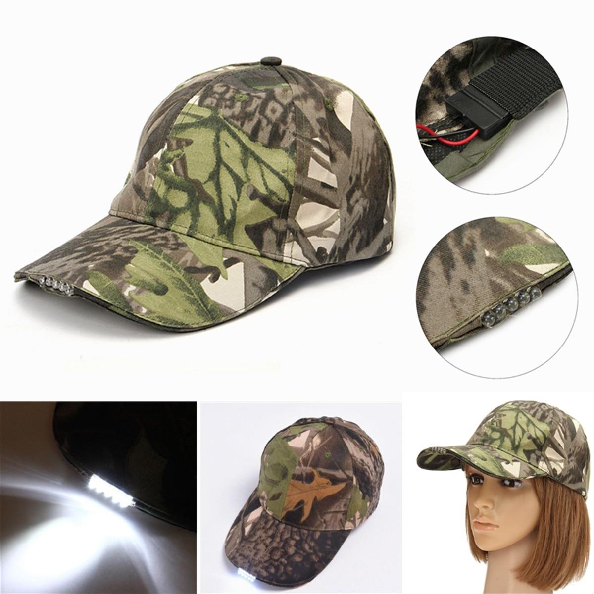Unisex 5 LED Headlamp Cap Battery Powered Hat With LED Head Light Flashlight Head Lamp Lantern For Fishing Jogging Baseball Cap