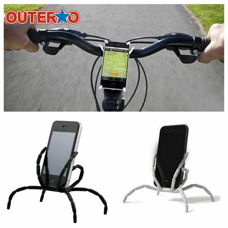 OUTERDO ملحقات الدراجات الهاتف العنكبوت حامل تقف حالة 8 الساقين الدراجات هاتف محمول دعم لأي الهاتف المحمول أقل من 5.5 بوصة