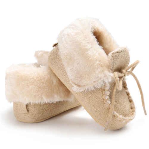 Для маленьких мальчиков обувь для девочек хлопок внутри сапоги коляска теплая обувь детская обувь спортивная для маленьких девочек Размеры 0-18 месяцев