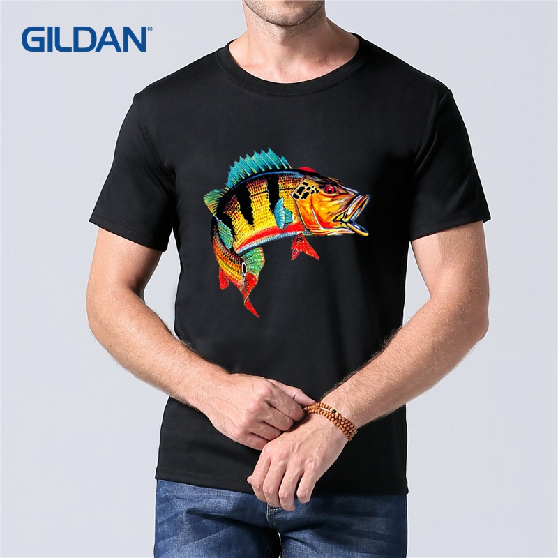 Design Your Own Shirts Online: Printing Online Fish Tucunare T Shirt 2019 Mens Black