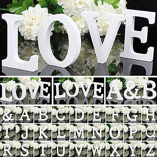 1Pcs Home Decoration Large Wooden Letter Alphabet Wall Hanging Wedding Party Home Shop Wooden Letter