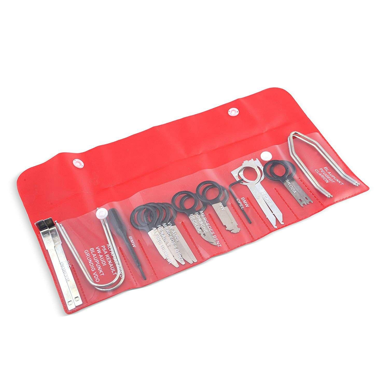 Equipo de herramientas de eliminación de Radio reproductor de CD estéreo de Audio automotriz profesional-20 piezas