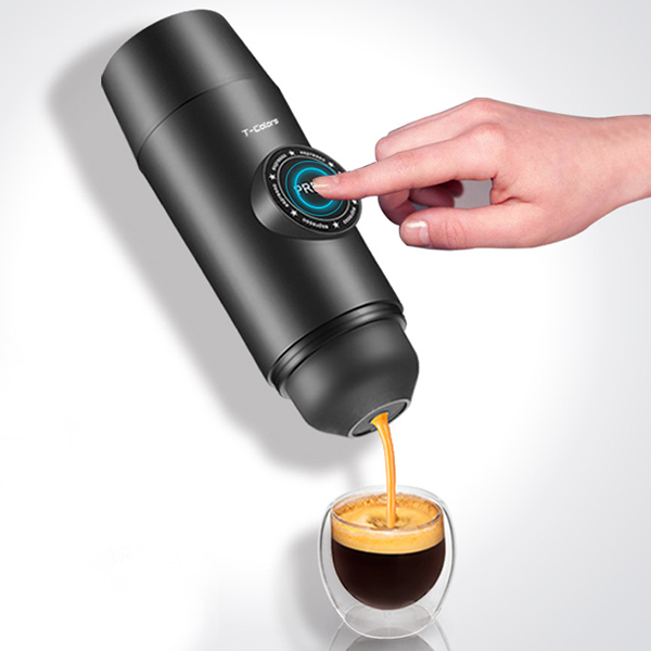 Electric Portable Coffee Maker Mini Espresso Cafe Maker Handheld Pressure Espresso Capsule Coffee Machine Pressing Home Travel