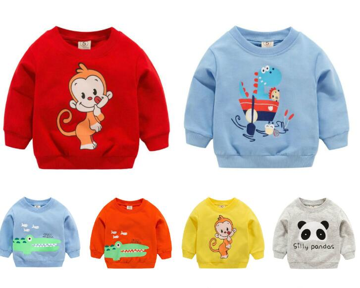 1pc Baby Clothes Girls Boys Sweatshirts Baby Soft Cotton Top Cartoon Sweater Children Spring Autumn Pullover Kids Outerwear