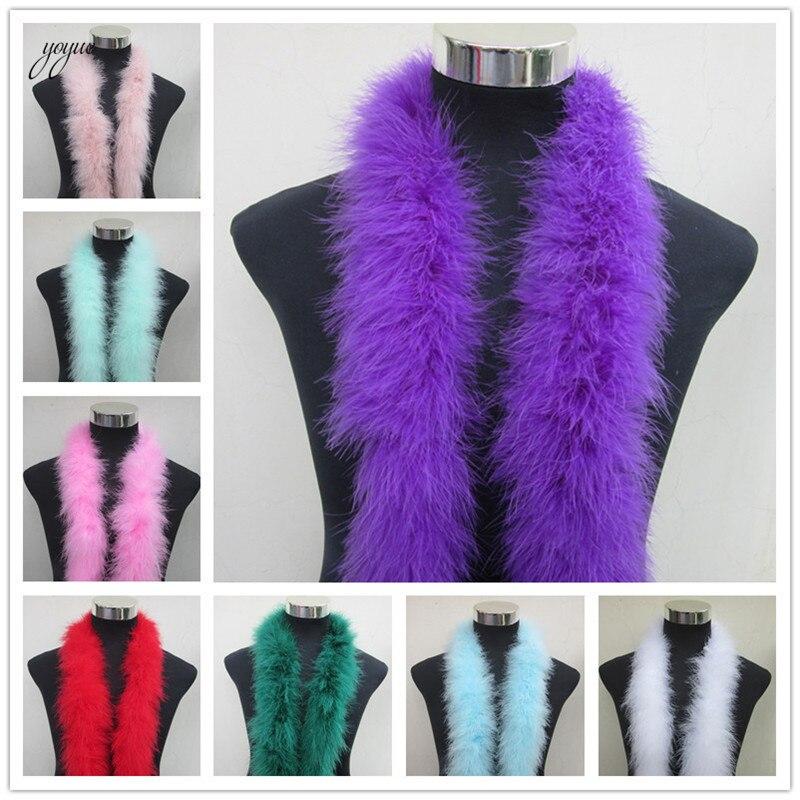 50g Beautiful Purple Feather Boa 180cm