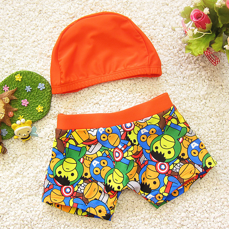 2018 Bathing Suit Beach Swimsuit Infant Baby Children's Swimwear Male Boxer Medium And Small & Spa Swimming Trunks