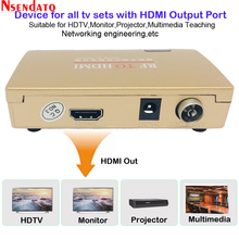 RF To HDMI All Standard Converter HDMI To Radio Frequency Signal RF to HDMI Transmitter Signal Analog TV Receiver Adapter for TV