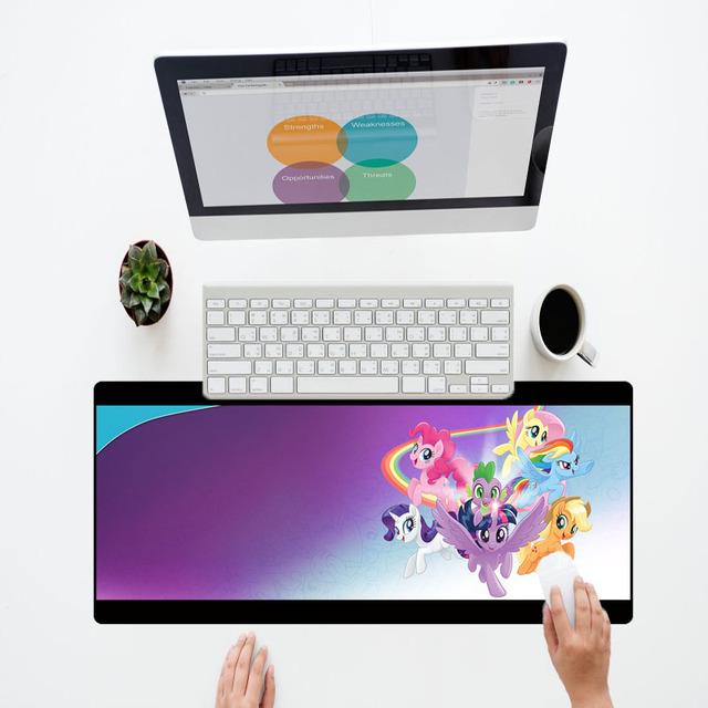 XGZ Cute Mouse Pad 300X800X3MM Anime My Little Pony Gaming Mouse Pads for Hello Kitty Nanatsu No Taizai League of Legend Mats