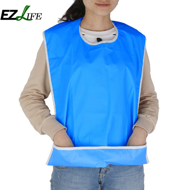 Bibs For Adults >> Ezlife Waterproof Safe Apron High Quality Adults Mealtime Bib
