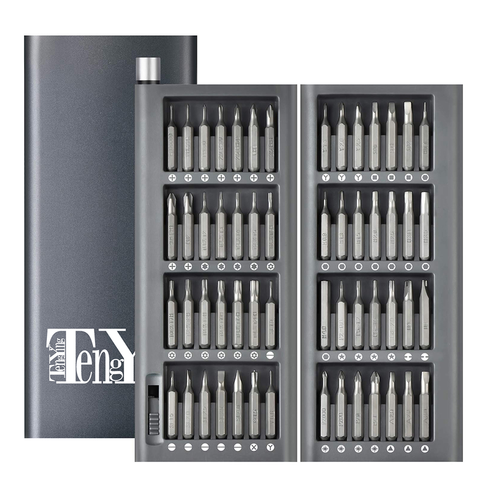 Multifunctional Portative Useful Practical 56-In-1 Precision Screwdriver Kit Magnetic Bits AL Box Screw Driver Smart  Home Set