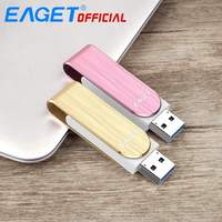 High Speed Brand New EAGET F50 USB 3.0 Flash Drive U Disk Memory Pendrive Metal Stick Pen Drive 32G Gift Cle USB Waterproof